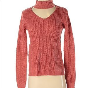 2/$30 Planet Gold Rust brown V-neck Sweater XS